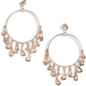 Authentic KENDRA SCOTT NATASHA Rose Gold Hoops